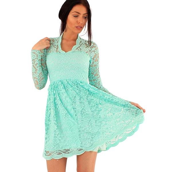 Lili London Kendall Lace mekko roosa Mekot Juhlamekot