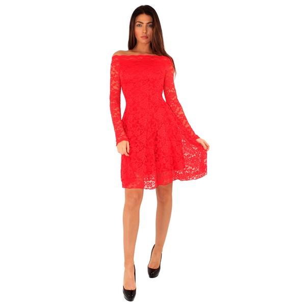 Lili London Coco Lace mekko punainen - Mekot - Juhlamekot  fa825b6e46