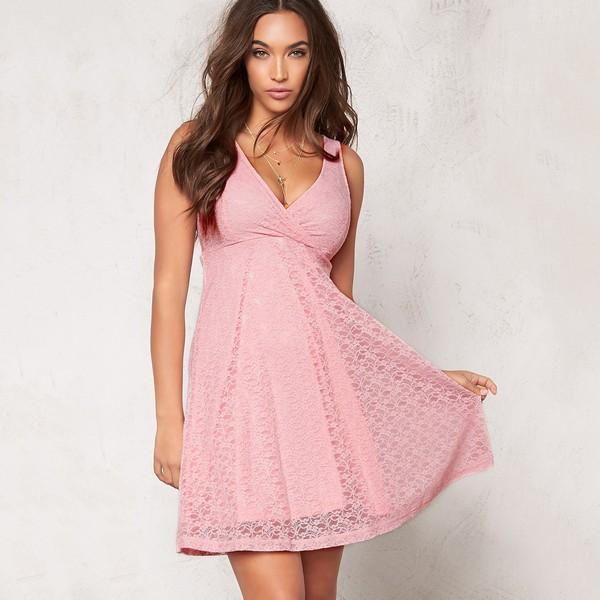 Paris Lace mekko vaaleanpunainen - Mekot - Juhlamekot  d36f3aef1a