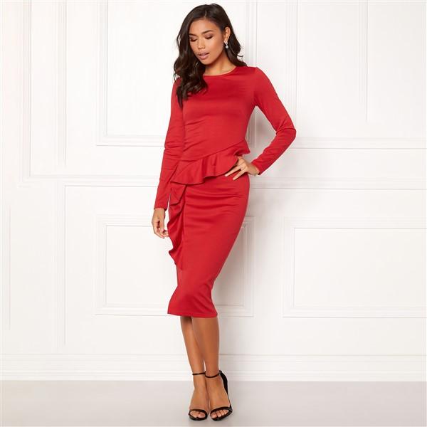 Line Frill mekko punainen - Mekot - Juhlamekot  728b0fced2