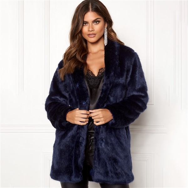 Luxure Faux Fur talvitakki tummansininen - Takit - Talvitakit  2e40e18274