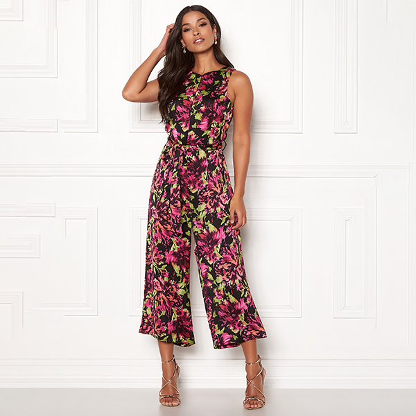 Happy Holly Irma Occasion jumpsuit musta/pinkki