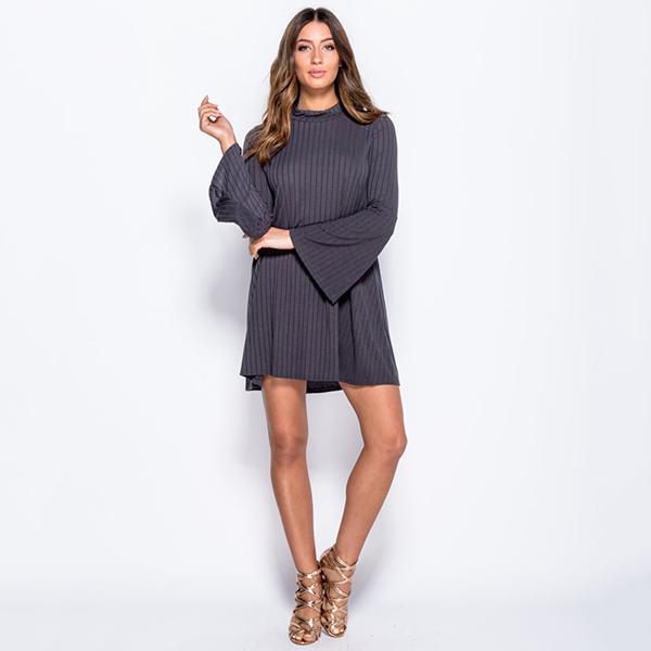 IM Fashions Swing mekko t.harmaa - Mekot - Minimekot  bd07c40413