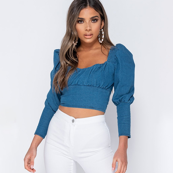 Infinity Sweetheart Crop paita denim
