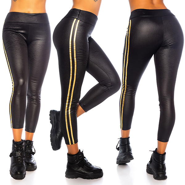 Fashion Design Thermo Glam leggingsit musta