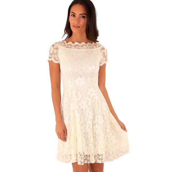 Lili London Fancy Lace mekko valkoinen - Mekot - Juhlamekot  9141399e1d