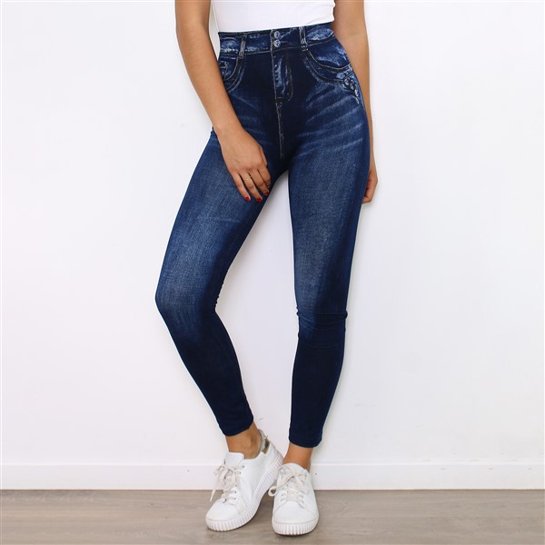 Fashion Jeanslook leggingsit sininen