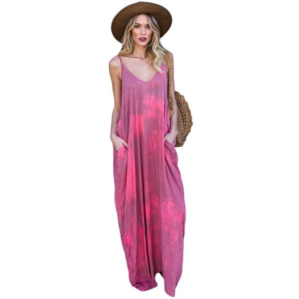 Rosy mekko pinkki kuviollinen - Mekot - Maksimekot  9f99b1f8bb