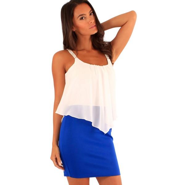Lili London Annie mekko sininen valkoinen - Mekot - Juhlamekot ... e3ee288840