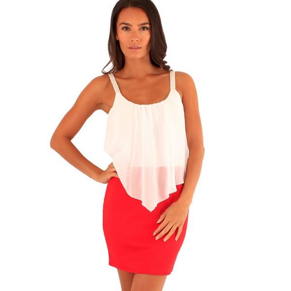 Lili London Annie mekko punainen valkoinen - Mekot - Juhlamekot ... 4c77f78963
