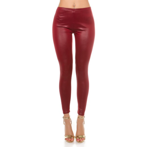 Koucla Leatherlook leggingsit viini