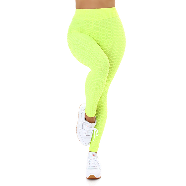 Fashion 3D leggingsit neonkeltainen