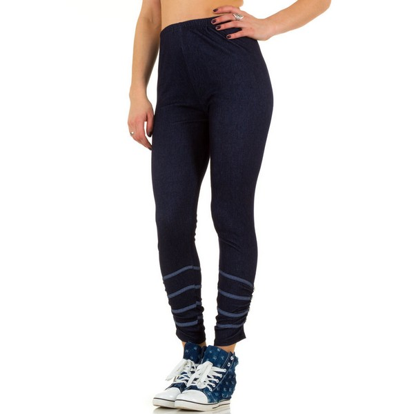Fashion Design jeanslook leggingsit sininen