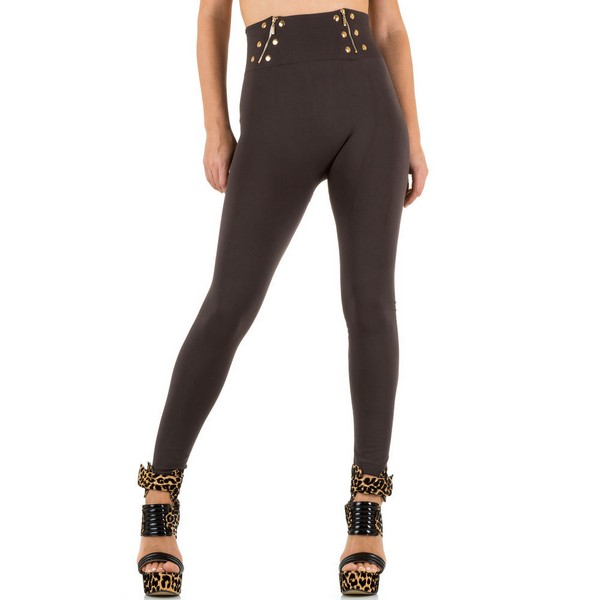 Fashion Design High Waist leggingsit t.ruskea