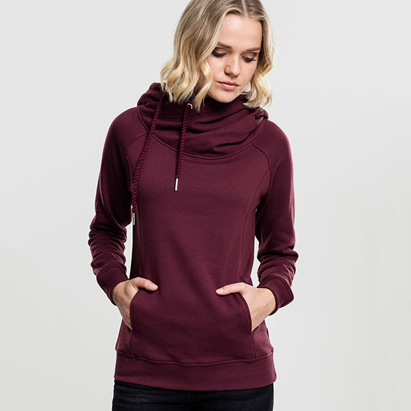 Urban Classics High-neck huppari kirsikka