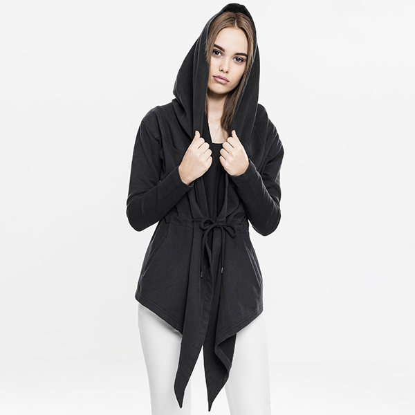 Urban Classics Hooded collegetakki musta