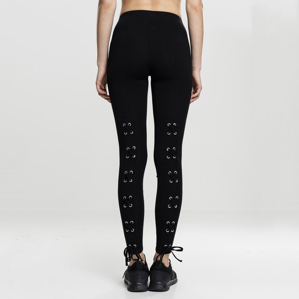 Urban Classics Laced Up Back leggingsit musta