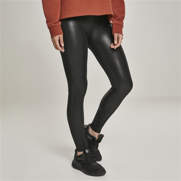 Urban Classics Faux Leather leggingsit musta