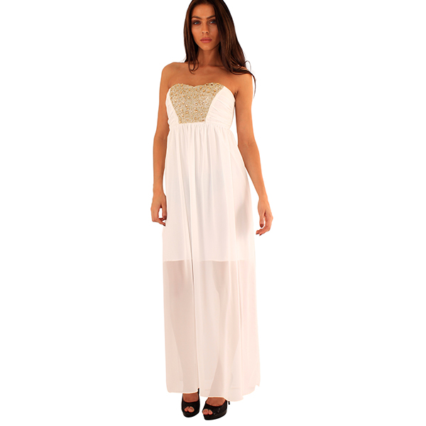 Lili London Denisa mekko valkoinen - Mekot - Juhlamekot  e73e61597f
