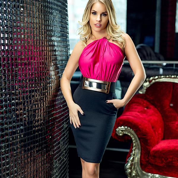Lili London Hope mekko pinkki - Mekot - Juhlamekot  9e63b6d891