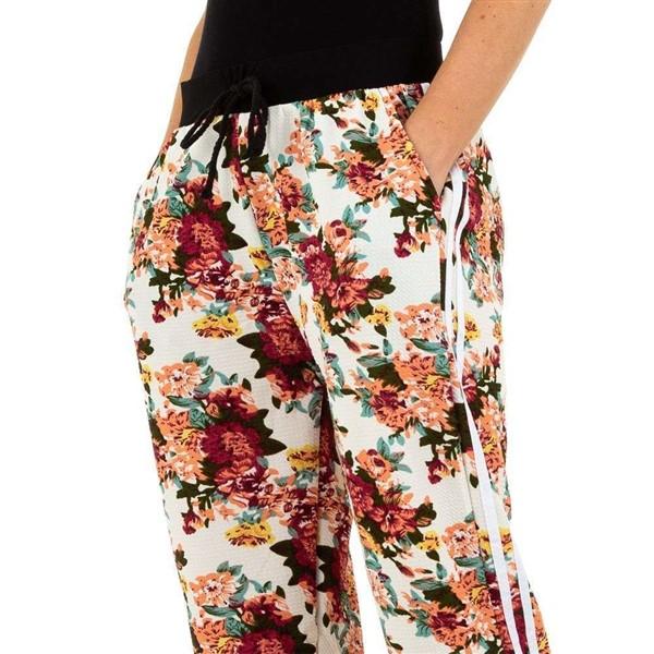 Holala Flower housut valkoinenkukkakuvio Housut Muut