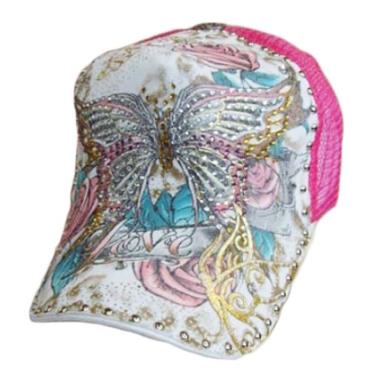 Butterfly Love - valkopinkki lippalakki - Hatut - Lippahatut  d91f83c6e4