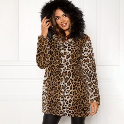 Happy Holly Trinny Faux Fur talvitakki leokuvio