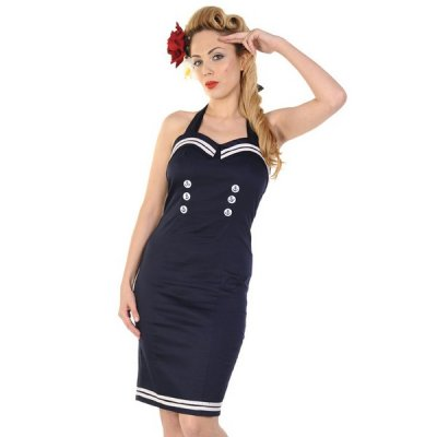 Banned Sailor mekko navy