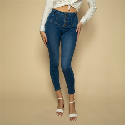 Cindy H. Skinny High stretchfarkut sininen