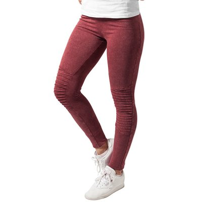 Urban Classics Denim Jersey leggingsit burgundy