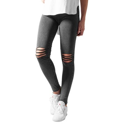 Urban Classics Cutted Knee leggingsit harmaa