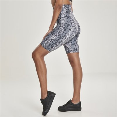 Urban Classics AOP High Waist Cycle shortsit käärme/harmaa