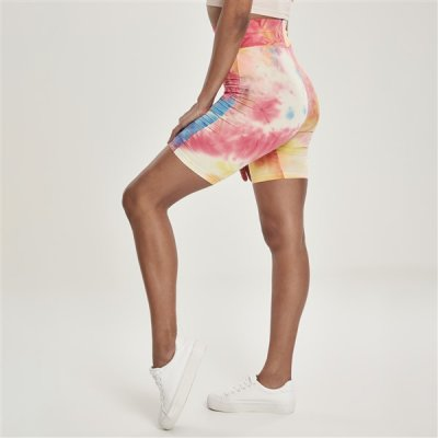 Urban Classics Tie Dye High Waist Cycle shortsit kuvioitu