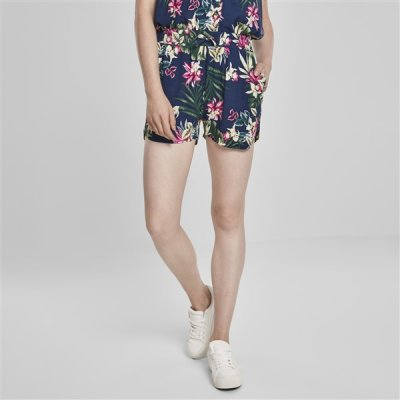 Urban Classics AOP Viscose Resort shortsit navy/kukkakuvio