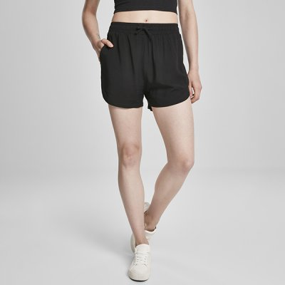 Urban Classics Viscose Resort shortsit musta