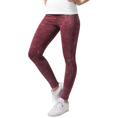 Urban Classics Acid Wash leggingsit burgundy